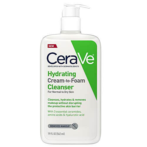 CeraVe NEW Hydrating Cream-to-Foam Cleanser